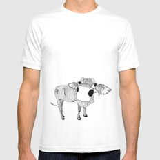 Cowface Mens Fitted Tee White MEDIUM