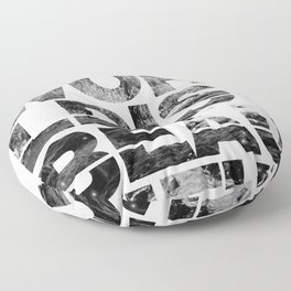 The World is Beautiful Floor Pillow