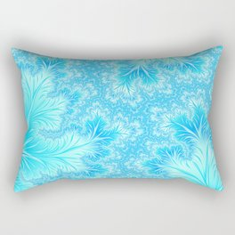 Abstract Christmas Aqua Blue Branches. Cute nature pattern Rectangular Pillow