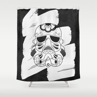 storm trooper Shower Curtains featuring Storm Trooper #3 by vrdgrs