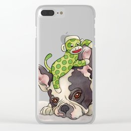 Pouting Bubba Clear iPhone Case