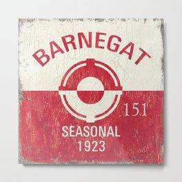 Barnegat Beach Badge Metal Print