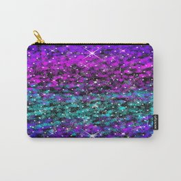 Starry Night Purple Aqua Blue Carry-All Pouch