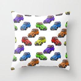 2cv pattern small Throw Pillow