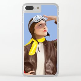 Art Deco flying Clear iPhone Case