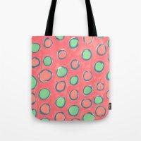 polka dot Tote Bags featuring polka dot by Jenni Freidman