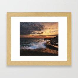 Twilight Surf Framed Art Print