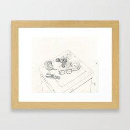 Things on the fridge Framed Art Print