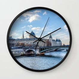 Tribunal de Commerce on the Ile de la Cite - Paris, France Wall Clock