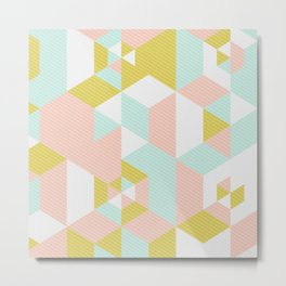 Lovely Abstract Geometric Pattern Metal Print