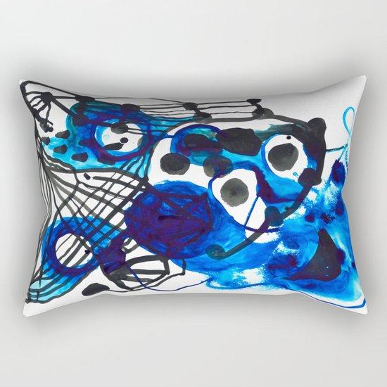Paint 5 abstract minimal modern painting trendy bold painterly dorm college urban apartment decor Rectangular Pillow