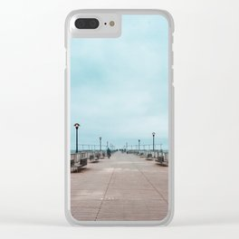 Coney Island Pier Clear iPhone Case