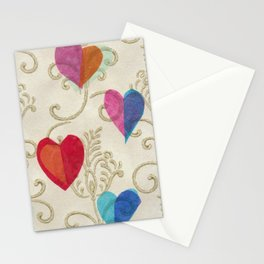Vintage Hearts Stationery Cards