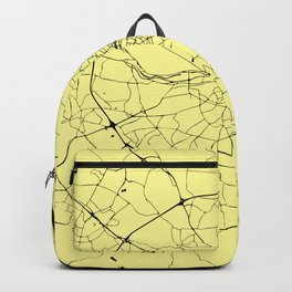 Black and Yellow Dublin Street Map Backpack