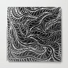 Leaf Play Metal Print