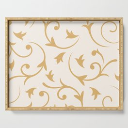 Baroque Design – Gold on Cream Serving Tray