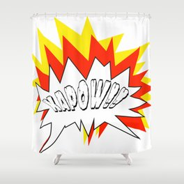 Comic with the write Kapow!! - Vector Shower Curtain