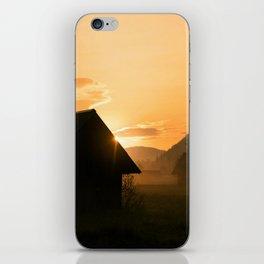 Sunrise in Stara Fuzina, Bohinj iPhone Skin