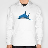 shark Hoodies featuring Shark by Mr. Peruca