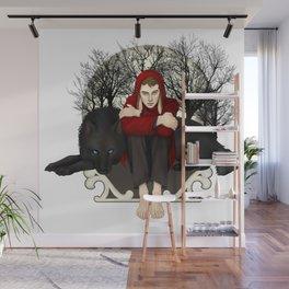 Moon Bunny Wall Mural