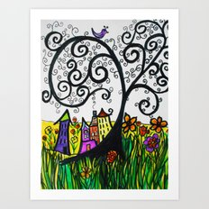 Monday Whimsy Doodle _original Art Print