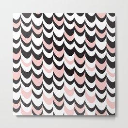 Blush Wave Metal Print
