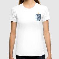 england T-shirts featuring England Minimal by Daniel Nyari