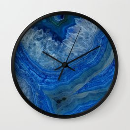 blue agate crystals Wall Clock