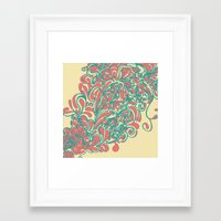 coral Framed Art Prints featuring Coral  by LindsayMichelle