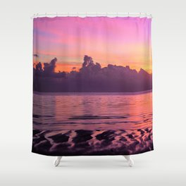 Spectacular South Pacific Sunset Near Huahini Island, Tahiti Shower Curtain