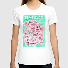 Dallas City Map T-shirt