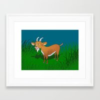 goat Framed Art Prints featuring  Goat  by mailboxdisco