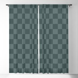 Checkerboard Pattern Inspired By Night Watch PPG1145-7 & Juniper Berry Green PPG1145-6 Blackout Curtain