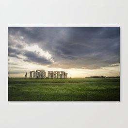 Sunset on Stonehenge Canvas Print