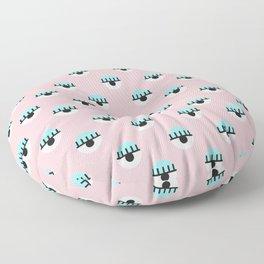 Evil Eyes on Pink Floor Pillow