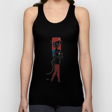Cat girl and fat mouse Unisex Tank Top