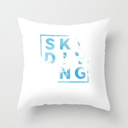 Stylish Skydiving Extreme Sports Skydiver Parachuting Gifts Throw Pillow