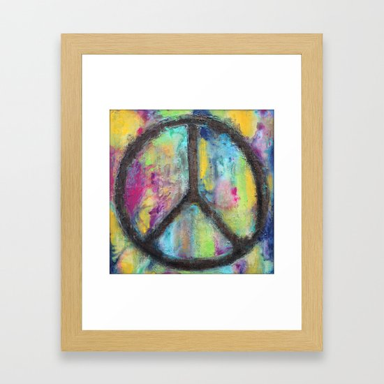 Tie Dye Peace Sign - Colorful Painting - Fluid Art by lizmoran