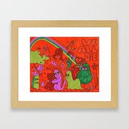 Graveyard Party Framed Art Print