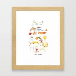Petit déjeuner Framed Art Print