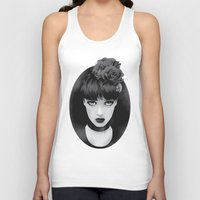lady Tank Tops featuring Lady by KUI29