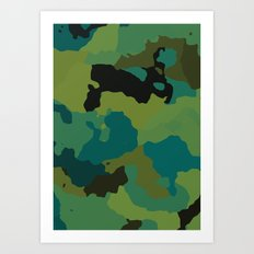 Colorful Camo Art Print