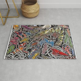 Prawns, gambas and shrimps for ocean lovers, marine biologists and scuba divers Rug