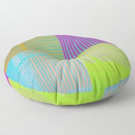 Di-simetrías Color Floor Pillow