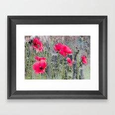 Poppies(mist)2. Framed Art Print