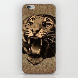 Vintage Tiger iPhone Skin