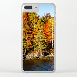 New England Fall. USA. Clear iPhone Case