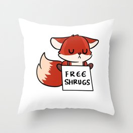 Free Shrugs Cute Person Gift Throw Pillow