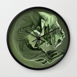Demikhov's Dogs Wall Clock