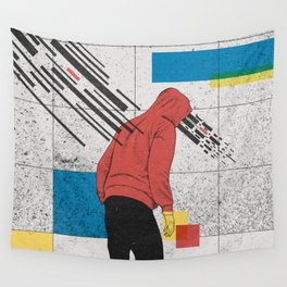 Discharge Wall Tapestry